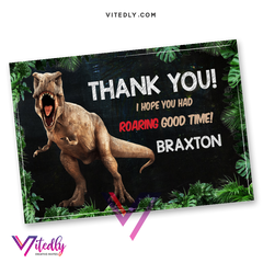 Jurassic World Thank you card