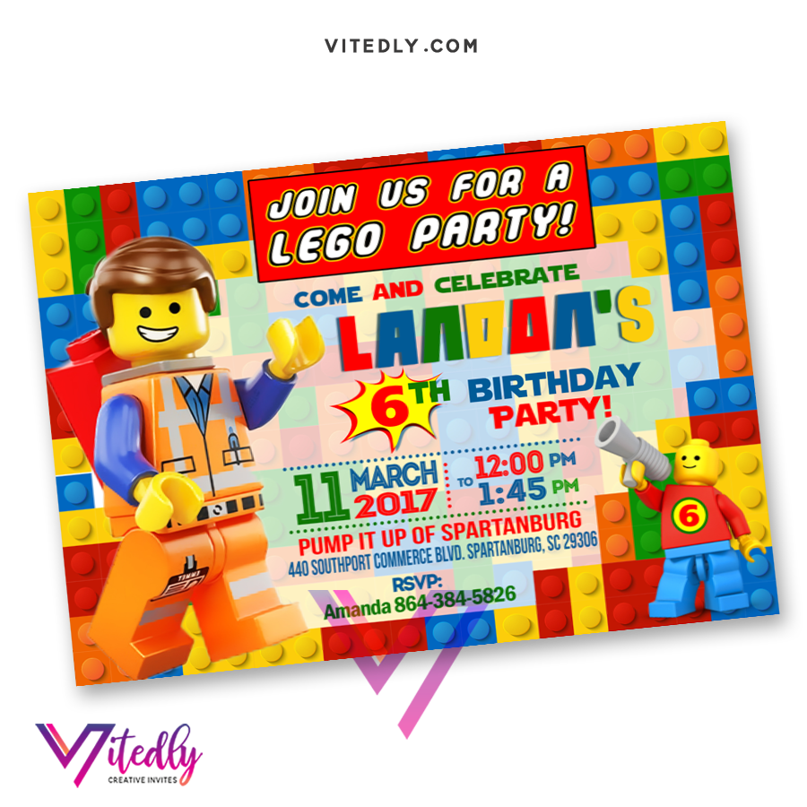Lego Invitations