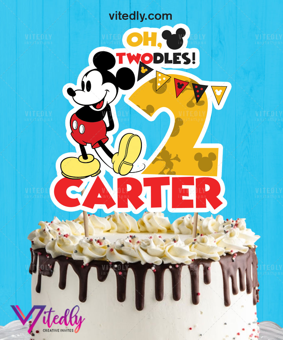 Mickey Mouse Cake Topper, Mickey Mouse Cake Centerpiece, Mickey Mouse Topper