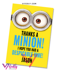 Minions Thank you card