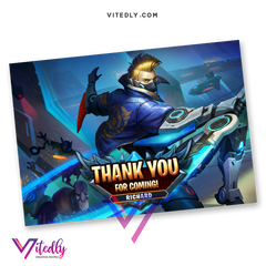 Mobile Legends Thank you card