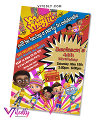 Motown Magic Birthday Invitation