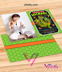 Ninja Turtles Invitation with Photo