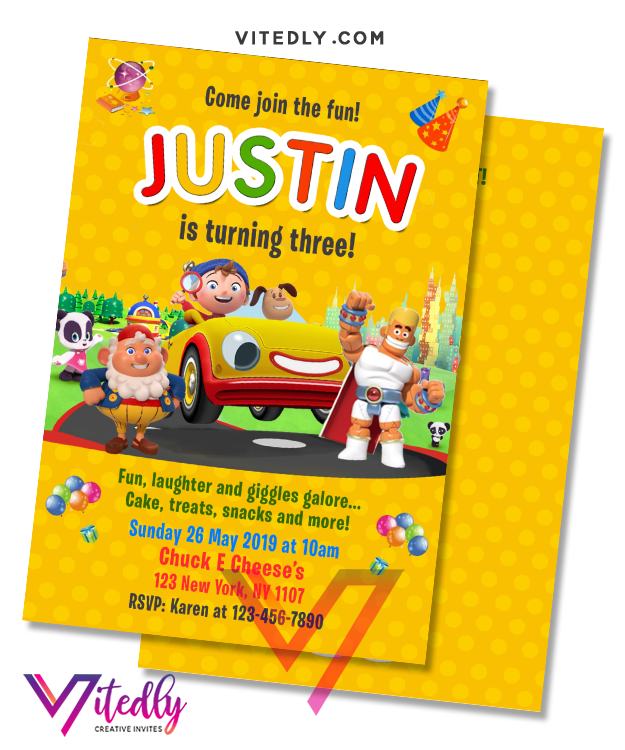 Noddy Toyland Detective Invitation