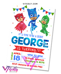 PJ Mask Invitation