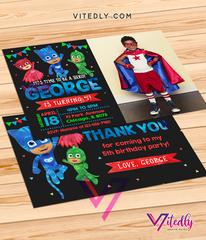 PJ Mask Invitations