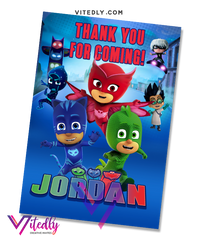 PJ Mask Thank you card