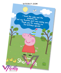 Peppa Pig Thank you card