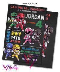 Power Rangers Invitation