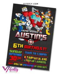 Rescue Bots Birthday Invitation