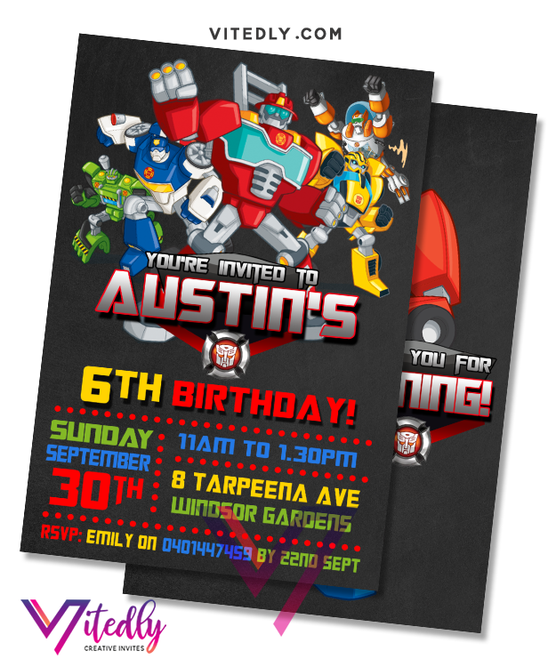Rescue Bots Invitation