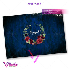 Rustic Blue Burgundy Engagement back design