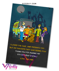 Scooby Doo Thank you card