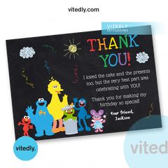 Sesame Street Thank you card