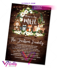 Woodland Shower by Mail Invitation