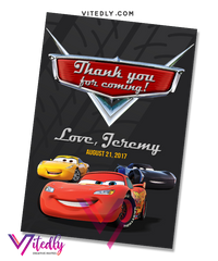 Disney Cars Birthday Invitation, Disney Cars Invitation