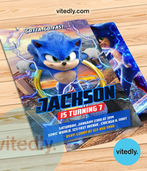 Sonic the Hedgehog Invitation, Sonic the Hedgehog Birthday Invitation, Sonic Invitation, Sonic Birthday Invitation