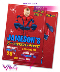 Spiderman Birthday Invitations, Spiderman Invitations, Spiderman Party Invitations