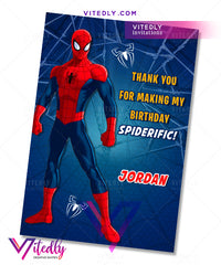 Spiderman thank you card