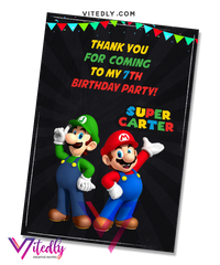 Super Mario Thank you card