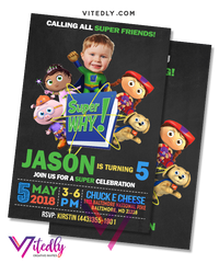Super Why Invitation