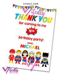 Superhero Thank you card