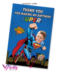 Superman Thank you card