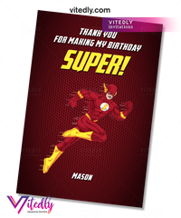 The Flash Thank you card