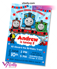 Thomas the Train Invitation with FREE Thank you card
