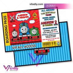 Thomas the Train Invitation, Thomas the Train Birthday Invitation