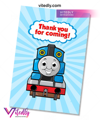 Thomas the Train Thank you card
