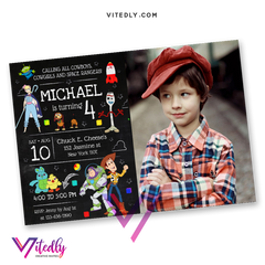 Toy Story 4 Invitation with Photo
