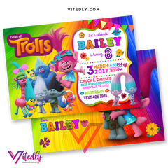 Trolls Invitations