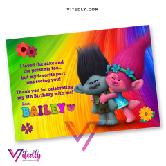 Trolls Thank you card