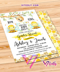 What will Baby Bee Gender Reveal Birthday Invitations