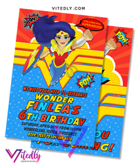 Wonder Woman Invitation