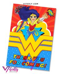 Wonder Woman Thank you card