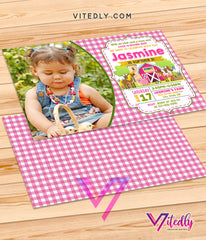 Farm Themed Birthday Party Invitations, Farm Theme party, Farm Themed birthday party, Barnyard invitations with Photo