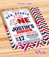 Baseball Invitations, Baseball Birthday Invitations, Baseball Party Invitation, Baseball Themed Birthday Party