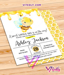 Honeybee baby shower Invitation