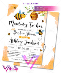 Bee Baby Shower Invitation