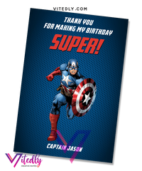 Captain America Thank you card