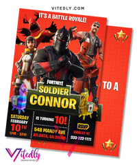 Fortnite Invitation, Fortnite Birthday Invitation