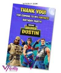 Fortnite Season 4 Thank you card