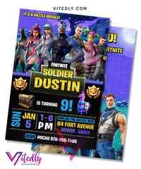 Fortnite Invitation Season 4, Fortnite Birthday Invitation