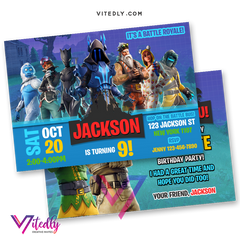 Fortnite Birthday Invitation, Fortnite Birthday Invite, Fortnite Invitations, Fortnite Invitation