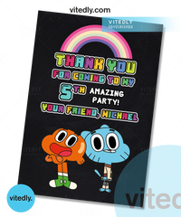 Gumball Thank you card