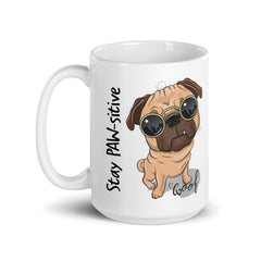 Stay PAW-sitive Pug Mug, Quarantine Gift