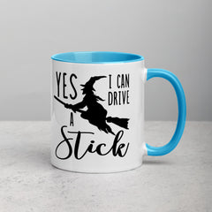 Yes! I Can Drive A Stick | Funny Halloween Two-Tone Coffee Mug