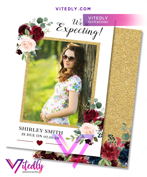 Pregnancy Announcement Floral